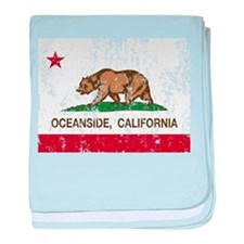 california flag oceanside distressed baby blanket