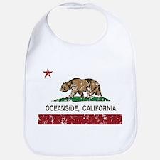 california flag oceanside distressed Bib
