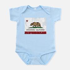 california flag oceanside distressed Body Suit