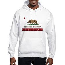 california flag oceanside distressed Hoodie
