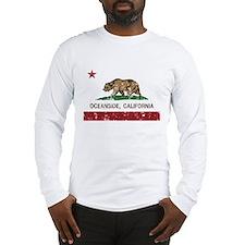 california flag oceanside distressed Long Sleeve T