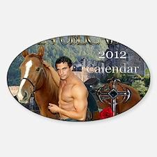 11.5x9 print calendar Sticker (Oval)