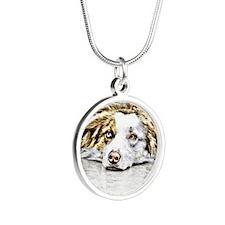 AUSTRALIAN SHEPHERD 2 PNG Silver Round Necklace