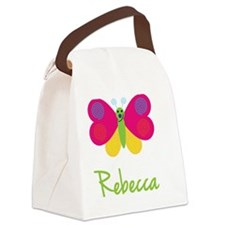 Rebecca-the-butterfly Canvas Lunch Bag