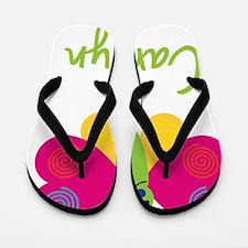 Carolyn-the-butterfly Flip Flops