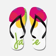 Janice-the-butterfly Flip Flops