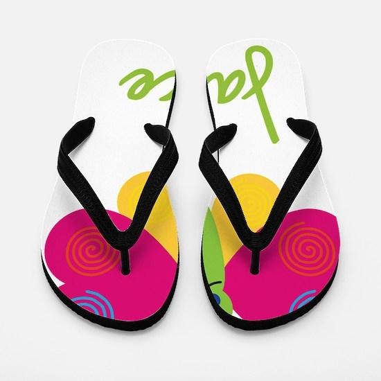 Janice-the-butterfly Flip Flops