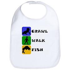 Crawl Walk Fish Bib