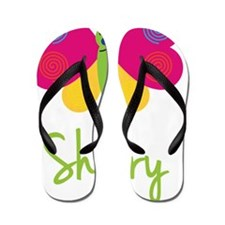 Sherry-the-butterfly Flip Flops