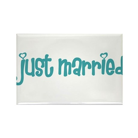 just married Rectangle Magnet