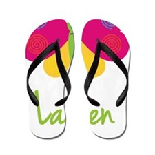 Lauren-the-butterfly Flip Flops
