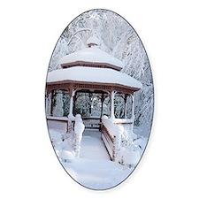 Gazebo surround by snow 7 Decal