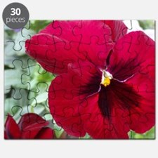 Perfect Red Pansy Flower Puzzle