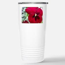 Perfect Red Pansy Flower Travel Mug
