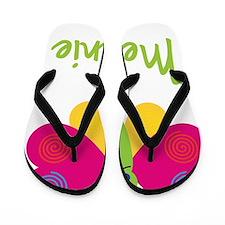 Melanie-the-butterfly Flip Flops
