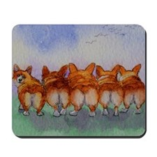 five walk away together saturated Mousepad