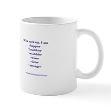 I Live in Easy World Affirmation Mug