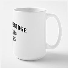 bainbride cn black letters Large Mug