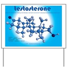 calendar - testosterone Yard Sign