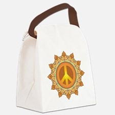 Peace Symbol Canvas Lunch Bag