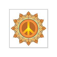 """Peace Symbol Square Sticker 3"""" x 3"""""""