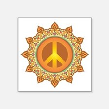 "Peace Symbol Square Sticker 3"" x 3"""