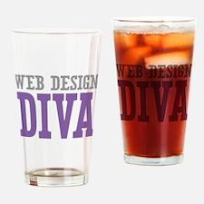 Web Design DIVA Drinking Glass