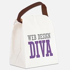 Web Design DIVA Canvas Lunch Bag