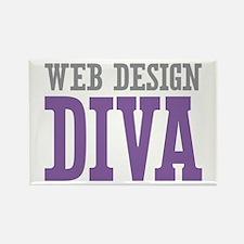 Web Design DIVA Rectangle Magnet