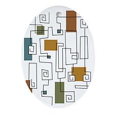 FollowThatLine Oval Ornament