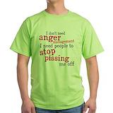 Anger management Green T-Shirt