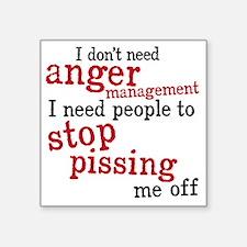 "angermanagement Square Sticker 3"" x 3"""