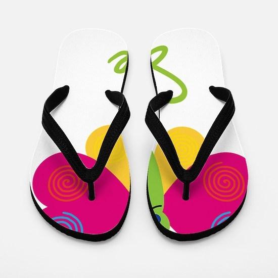 Sue-the-butterfly Flip Flops