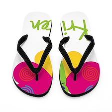 Kristen-the-butterfly Flip Flops