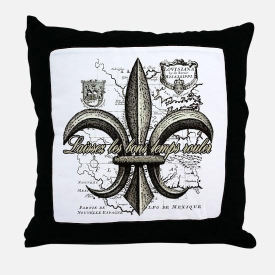 New Orleans Laissez les bons temps ro Throw Pillow