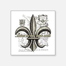 """New Orleans Laissez les bon Square Sticker 3"""" x 3"""""""
