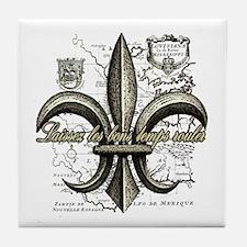 New Orleans Laissez les bons temps ro Tile Coaster