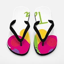 Tara-the-butterfly Flip Flops