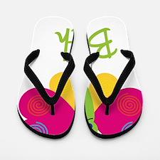 Beth-the-butterfly Flip Flops