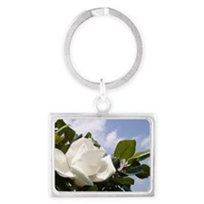 Magnolia In Heaven Landscape Keychain
