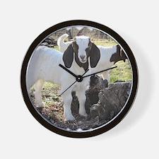 Twin goats Wall Clock