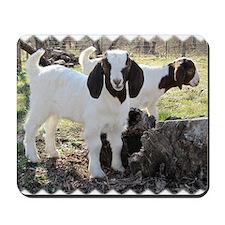 Twin goats Mousepad