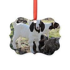 Twin goats Ornament