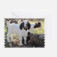 Twin goats Greeting Card