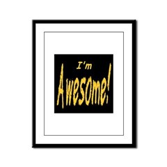 Awesome Designs Framed Panel Print