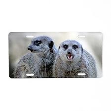 Meerkats Aluminum License Plate