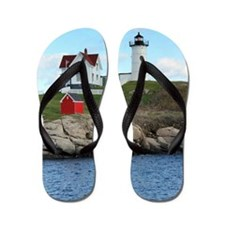Nubble Light House (Cape Neddick Light  Flip Flops