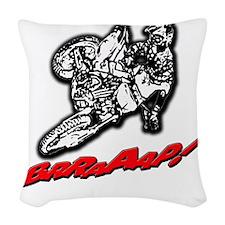 DirtbikeBrraaap Woven Throw Pillow