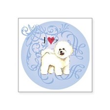 "bichon-charm2 Square Sticker 3"" x 3"""