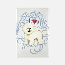 bichon-oval charm Rectangle Magnet